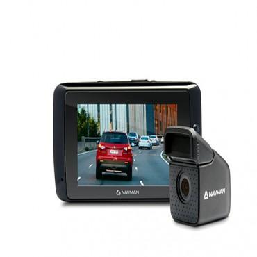 NAVMAN MIVUE 800 DUAL CAMERA DASHCAM 2.7INCH LCD 2CH DUAL RECORDING 1080P FULL HD GPS TRACKING HEADLIGHT