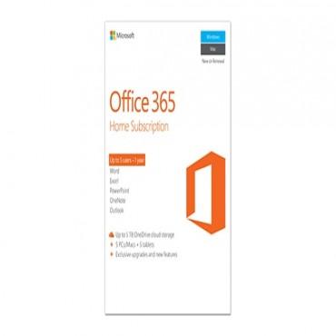 Microsoft Off 365 Home English APAC DM Subscr 1YR Medialess P2 6GQ-00752