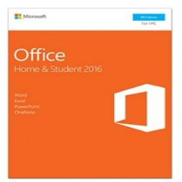 Microsoft OFFICE HOME & STUDENT 2016 (Product Key Only, NO CD) for 1 PC, MEDIALESS P2 (Register