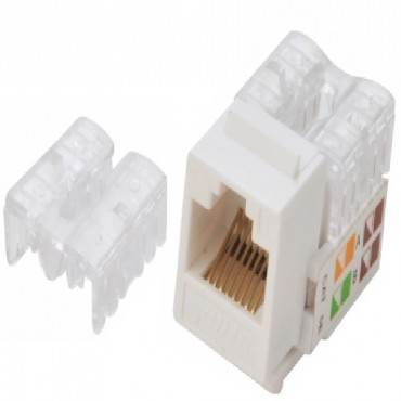 Astrotek CAT6 UTP Keystone Jack for Socket kit 10ps per pack Poly Bag White ATP-KJ-6