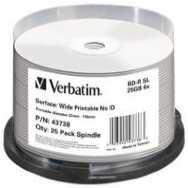 Verbatim Blu-Ray BD-R 25pk 25GB, 6x, Spindle (LS) 43738