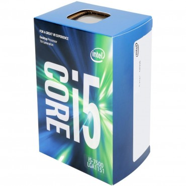 Intel Processor: Core i5-7500 KabyLake Quad Core LGA1151 3.40GHz Turbo to 3.80GHz 8GT/ s DMI 6MB