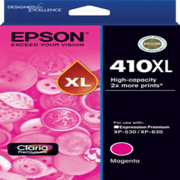 EPSON 410XL HIGH CAPACITY CLARIA PREMIUM - MAGENTA INK CARTRIDGE (XP-530 XP-630) C13T340392