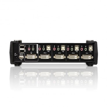 Aten (CS-1784A) Aten 4 Port USB DVI KVMP Switch with Audio and USB 2.0 Hub - Cables Included CS-1784A