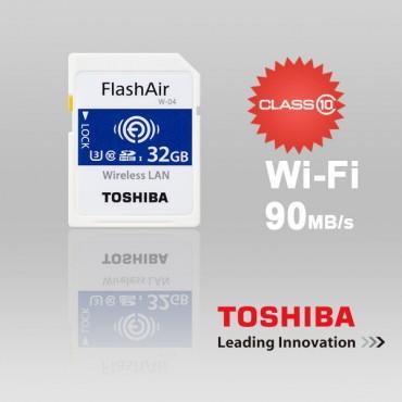 Toshiba 32GB THN-NW04W0320C6 FlashAir SDHC W-4 CL10 (New) 90R 70W FFCTOS32GAIR04-1