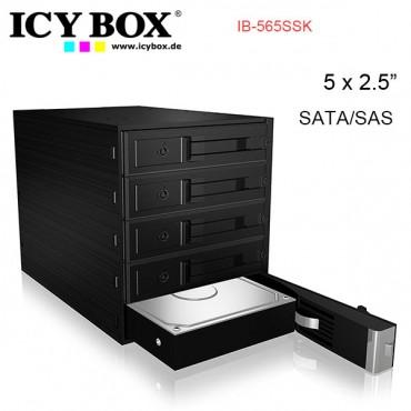 "ICY BOX IB-565SSK Backplane for 5x 3.5"" SATA or SAS HDD in 3x 5.25"" bay HDDICY565SSK"
