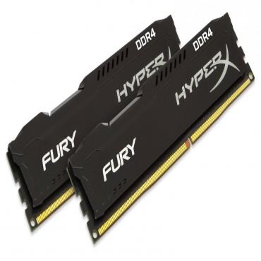 Kingston DUAL CHANNEL :16GB (2x8GB) DDR4 2400MHz Non-ECC CL15 DIMM (Kit of 2)HyperX FURY Black