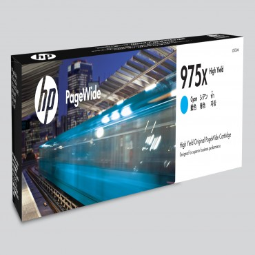 HP 975X CYAN PAGEWIDE CARTRIDGE MOQ 18 UNITS L0S00AA