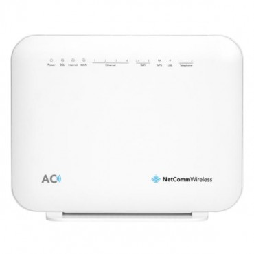 NetComm NF18ACV AC1600 Wi-Fi xDSL Modem Router with Voice - Gigabit WAN, 4 x Gigabit LAN, 2 x