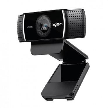 Logitech Webcam HD Pro C922, USB, Monitor Clip, Mini Tripod, H.264, Stereo Audio. 960-001090