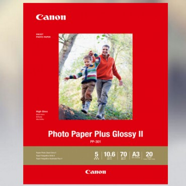CANON PP301A3 20 SHEETS 265 GSM PHOTO PAPER PLUS GLOSSY II PP301A3