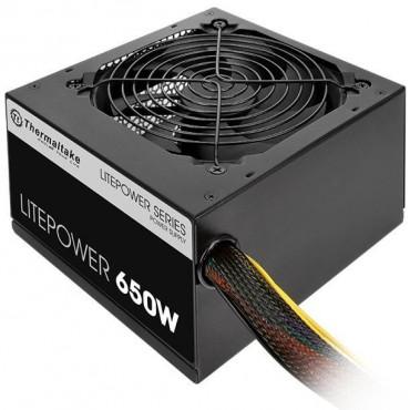 Thermaltake Power Supply: 650W Litepower GEN2 5*SATA 6*MOLEX 2*PCI-E (6+ 2) ATX PSU PS-LTP-0650NPCNAU-2