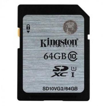 Kingston 64GB SDHC CLASS10 UHS-I 80MB/ S READ FLASH CARD FAR EAST RETAIL  SD10VG2/64GBFR