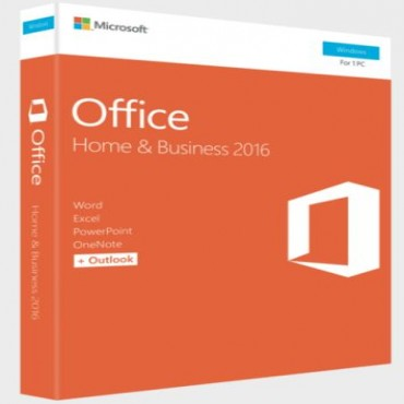 Microsoft Office 2016 Home and Business Retail MEDIALESS P2 (Register and download to instll by
