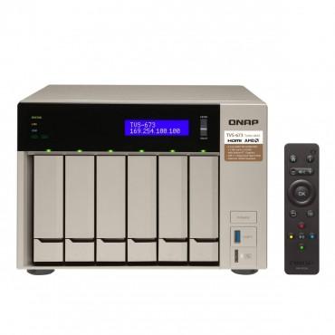 QNAP TVS-673-8G 6BAY NAS,WITH WD 24TB(6 X 4TB) RED HDD (WD40EFRX) TVS-673-8G-24TB
