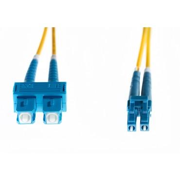 4CABLING 15m LC-SC OS1/ OS2 Singlemode Fibre Optic Cable : Yellow FL.OS1LCSC15M
