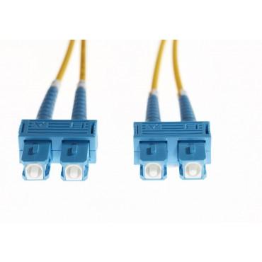 4CABLING 0.5m SC-SC OS1/ OS2 Singlemode Fibre Optic Cable : Yellow FL.OS1SCSC05M