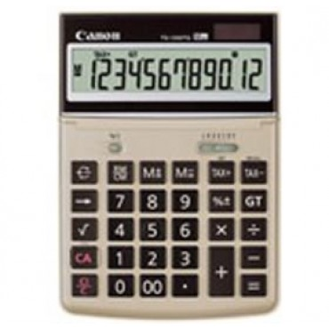 CANON TS1200TG 12 Digit, Dual Power, Tax Function, Large LCD Display, Made from Recycled Canon