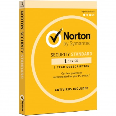 SYMANTEC NORTON SECURITY STANDARD 3.0 AU 1 USER 1 DEVICE 12MONTH SPECIAL CARD MM SML 21369638