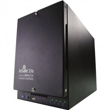 ioSafe 216 NAS - 12TB (6TBX2), WD RED HDD FIREPROOF WATERPROOF, 1YR BASIC. 216-12TB1YR-AUS