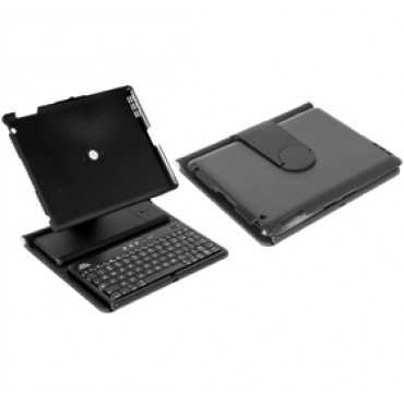 Amaze iPad 2 Protective Leather Case with Bluetooth Keyboard, BLACK Colour, Adjustable Holder