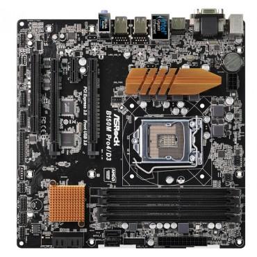 ASROCK B150M PRO4/ D3 LGA1151 mATX MB, 4xDDR3 (MAX 64GB), D-SUB+DVI+HDMI, 1xPCI-E 3.0 x16, 1xPCI-E