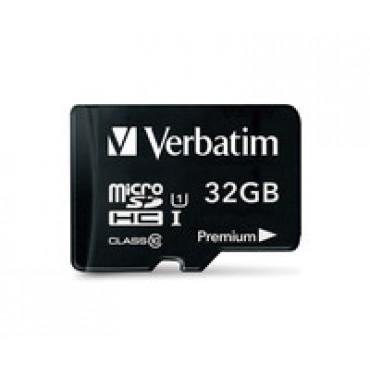 Verbatim Micro SDHC 32GB (Class 10) with Adaptor 44083