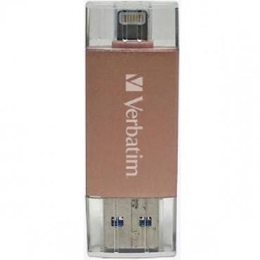 VERBATIM APPLE LIGHTNING USB 3.0 DRIVE 64GB - ROSE GOLD 65081