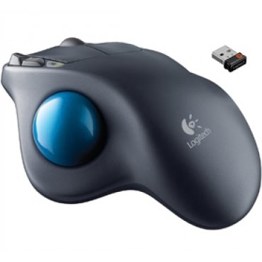 Logitech Mouse: M570 Wireless Trackball Trackball comfort integrated scroll wheel 910-002833 /