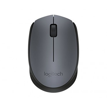 Logitech MOUSE: M171 Grey/ Black wireless ambidextrous shape design for comfort and mobility 910-004655