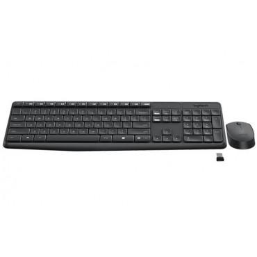 Logitech KB & Mouse: MK235 Wireless Combo Full size spill-resistant design Anti-fading treatment