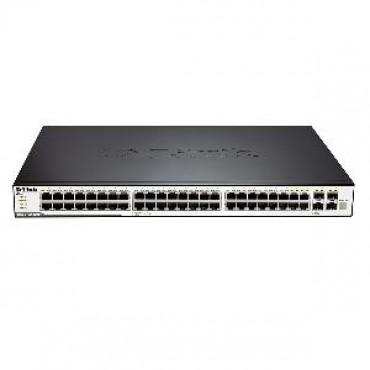 D-LINK 48-Port 10/100/1000Mbps & 4-Port Combo SFP L2 Stackable Managed Switch DGS-3120-48TC