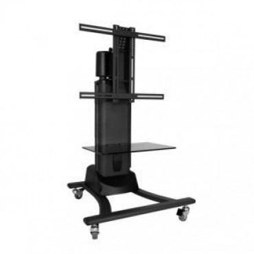 Atdec TH-EMC Telehook Floor | Motorised TV Cart. Supports max weight to 50kg. Supports universal