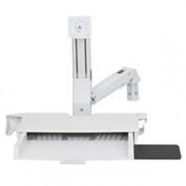 ERGOTRON STYLEVIEW SIT-STAND COMBO ARM WITH WORKSURFACE BRIGHT WHITE TEXTURE 45-260-216