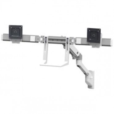 ERGOTRON HX WALL DUAL MONITOR ARM WHITE 45-479-216