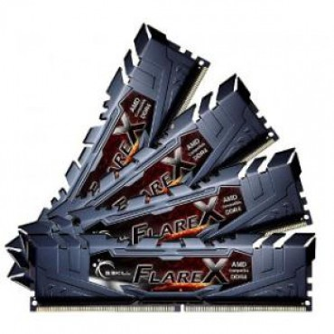 G.SKILL 16GB X 4 PC4-19200 / DDR4 2400 MHZ 1.2V FLARE X F4-2400C15Q-64GFX