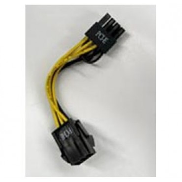 Powercase 6-Pin Female to 8-Pin Male PCI-E 2.0 Adapter Power Cable ACBSEA6PTO8PAD