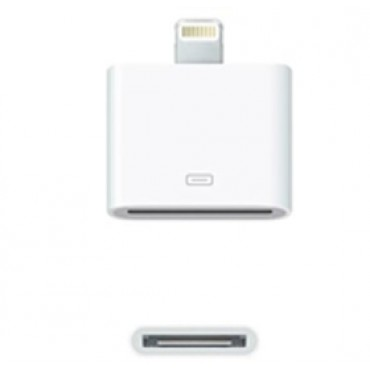 Amaze Apple 8 Pin Lightning to 30 Pin Adaptor (iPhone 5/ iTouch 5/ iPod Nano 7/ iPad mini/ iPad), White Colour