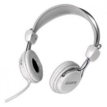 Laser AO-HEADK-WT Headphones Stereo Kids Friendly Colourful White