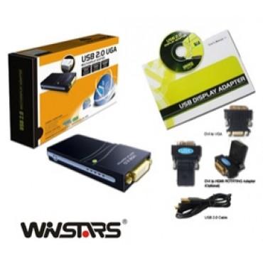 WINSTAR USB 2.0 To DVI-D/ HDMI/ VGA Adapter AWUSBHDMI6