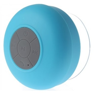 DS Bluetooth Waterproof Shower Speaker with Built-in Lithium Battery Blue
