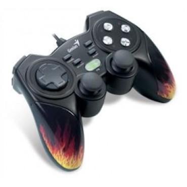 Genius MaxFire Blaze3 Vibration Gamepad for PC/ PS2/ PS3 Games, Vibration Feedback, Turbo, USB,