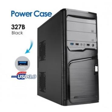 Powercase 327B ATX Case with 1x USB 3.0/ 2 x USB2.0, HD Audio (No PSU) CASPOW327B