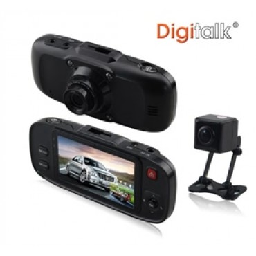 Digitalk Dual Camera In-Car Digital Video Recorder (DVR) ELEDIGEI-640GSD