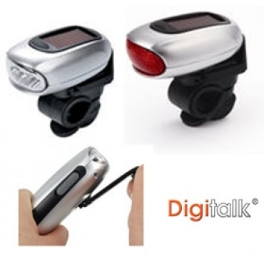 Digitalk Dynamo Solar LED Bicycle Lamps (Front and Rear) ELEDIGEI-KS5D5