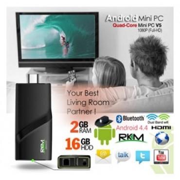 RKM V5 Quad Core 4K mini PC RK3288 2G DDR3/ 16G ROM/ BT 4.0 Dual Band/ Wifi/ Gbit Lan/ Andriod ELERKMV5