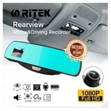 Ritek Full HD 1080 CRMT 01 Rearview Mirror+ Driving Recorder ELERTKCRMT01