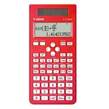 CANON F717SGAR Red, 242 function scientific calculator, Board of Studies approved, large screen
