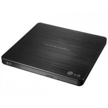 LG RET GP60NB50 BLK Ultra Slim 14mm Ext. Slim USB Adaptorless DVDRW Burner Retail Pack Mac Compatible