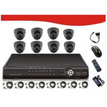 "SIGNAGEiT 8CH Combo Kits Includes 8* 1/ 4""SHARP 3.6mm RJ2421FA CCD 420TV Line, PAL:500(H)X582(V)"